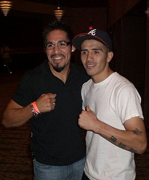 Brandon Ríos - Ríos (right) with Antonio Margarito