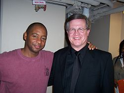 Reach (right) with Branford Marsalis