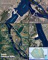 Bratul Gogosu si Insula Ostrovu Mare vazute din satelit.jpg