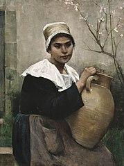 Breton Girl Holding a Jar
