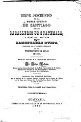Breve Descripción de la Noble Ciudad de Santiago de los Caballeros de Guatemala