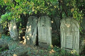 Briceni - Tomb stones at the Jewish cemetery in Briceni