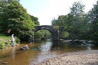 Hexworthy - The bridge across the West Dart at Hexworthy.