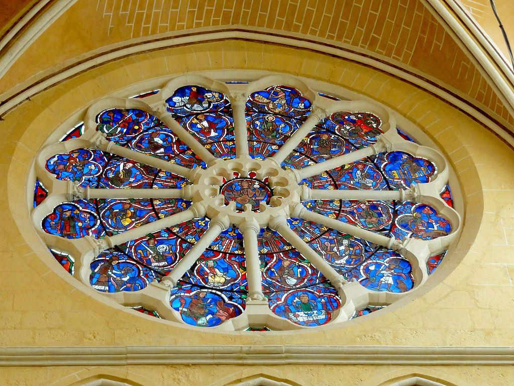 fichier brie comte robert 77 glise saint tienne chevet rosace avec vitraux du xiiie s. Black Bedroom Furniture Sets. Home Design Ideas