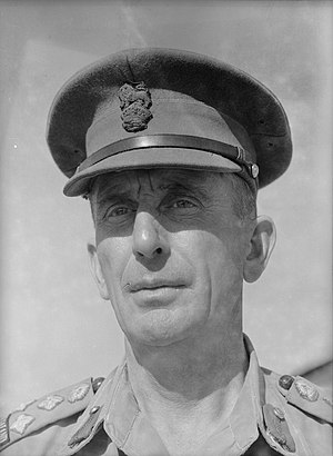Norman Weir - Portrait of Norman Weir, a brigadier at the time, Egypt 1943