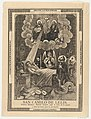 Broadsheet with Saint Camilo de Lelis in bed surrounded by demons, priests and the Holy Trinity above MET DP869180.jpg