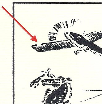 Airmail stamps of Denmark - Image: Broken Left Wing 15ore