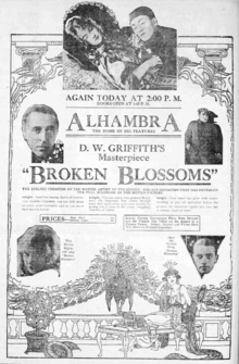Broken blossoms newspaper ad.png