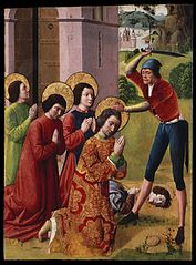 ''Martyrdom of Saints Cosmas and Damian with their Three Brothers, part of an altarpiece''