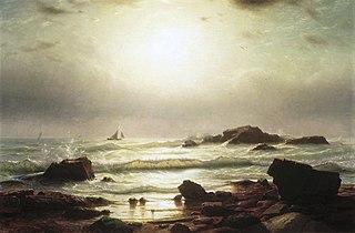 Sail Boats Off a Rocky Coast