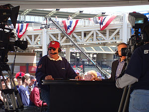 SportsTime Ohio - Bruce Drennan hosting his daily talk show at Progressive Field.