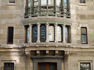 Victor Horta - Detail of Hôtel Tassel, Brussels
