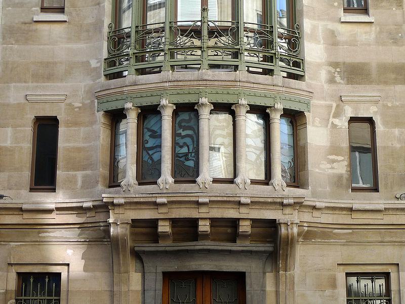 Detail of Hôtel Tassel (Victor Horta 1893) - rue Paul-Emile Jansonstraat - Elsene / Ixelles - Brussels (Belgium)  en.wikipedia.org/wiki/H%c3%b4tel_Tassel