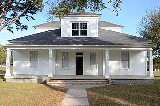 National Register of Historic Places listings in Crawford County, Arkansas - Image: Bryant Lasater House, Front View