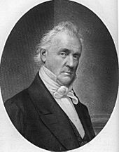 Portrait du président de l'Union James Buchanan.