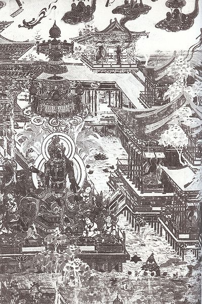 File buddhist paradise of amitabha tang for Dynasty mural works