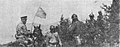 Bulgarian major Ivanov with white flag surrendering to Serbian 7th Danube ragiment.jpg
