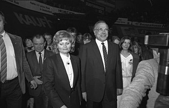 Helmut Kohl - Kohl and his wife Hannelore in Cologne, 1983