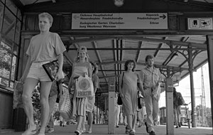 Berlin-Karlshorst station - Berlin-Karlshorst, S-Bahn steps, 1991