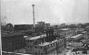 IG Farben factory in Monowitz (near Auschwitz)...