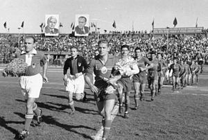Romania national football team - Romania – East Germany 3–1 in 1952.