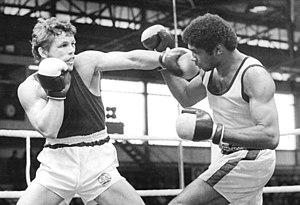 Armando Martínez (boxer) - Armando Martínez (right) battling Detlef Kästner in Halle in 1982