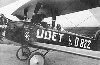 Siemens - The company built airplanes during World War I, for example this Siemens airplane in 1926.