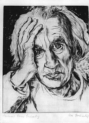 Hans Grundig - Portrait of Hans Grundig by Lea Grundig