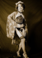 Burlesque performer in Melbourne, 1930s.png