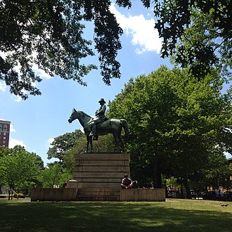 Burnside Park, Providence, Rhode Island - Image: Burnside statue in Burnside Park 2015
