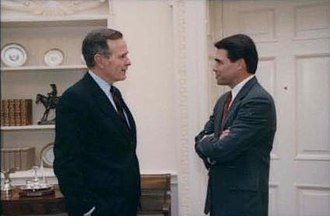 Rick Perry - Perry with President George H. W. Bush in 1990