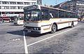 Buss fra ADS ventende på Arendal rutebilstasjon i 1983.jpg