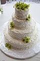 Buttercream lace wedding cake (6152393409).jpg