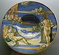 C.sf., urbino, francesco xanto avelli, tondino con allegoria del nuovo anno, 1530.JPG