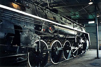 Confederation locomotive - CN 6153 Class U-2-c on display at the Canadian Railway Museum in Delson/Saint-Constant, Quebec