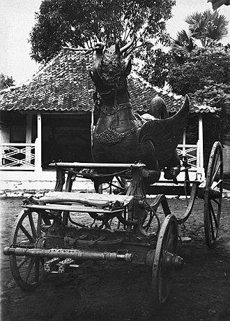 Sultanate of Cirebon - Image: COLLECTIE TROPENMUSEUM Staatsiekoets in de kraton Kanoman Cheribon T Mnr 60023840