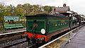 C class 592 at Kingscote railway station.jpg