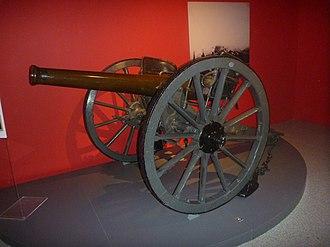 Army Museum of Toledo - Image: Cañón de bronce Plasencia de 9 cm Modelo 1878