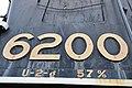 Cab-side number of Steam loco - 6200 (20129307264).jpg