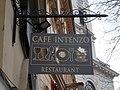 Cafe Intenzo sign, 9 Kalvin Square, 2016 Ferencvaros.jpg