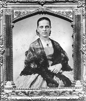 Women in the California Gold Rush - Gold Rush era Portrait of a Californio woman of Hispanic descent