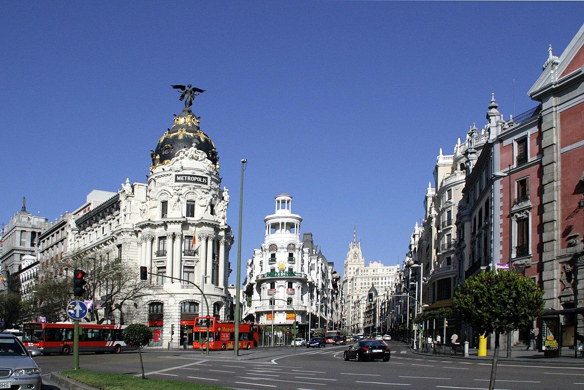 Historia de la gran v a wikipedia la enciclopedia libre for Hoteles en la calle prado de madrid