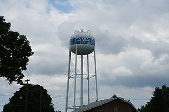 Camargo, Illinois - Camargo. Illinois Water Tower.