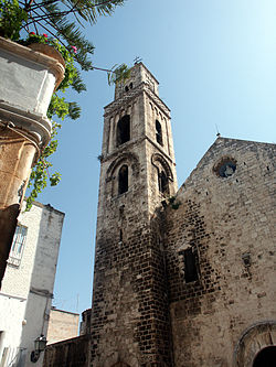 Church of Noicattaro, with bell-tower