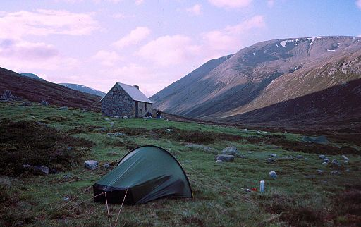 Camping by Corrour Bothy, Cairngorms, Scotland