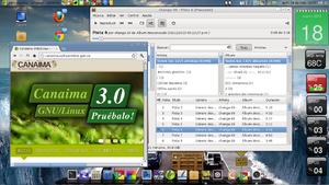 Canaima (operating system) - Personalized Canaima GNU/LINUX 3.0 desktop