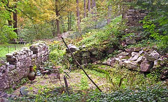 Lock Tender's House and Canal Store Ruin - Image: Canal Store Ruin, High Falls, NY