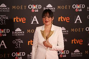 Candela Peña - Peña at Goya Awards 2017
