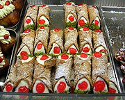 Cannoli, a highly popular pastry associated with Sicilian cuisine.