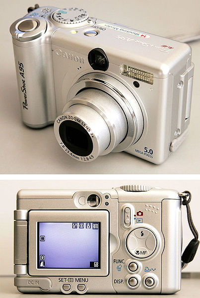 File:Canon PowerShot A95 - front and back.jpg